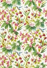 SCHUMACHER SEYCHELLES TROPICAL FABRIC IVORY