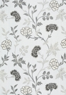 SCHUMACHER SHERIDAN LINEN EMBROIDERY FABRIC GRISAILLE