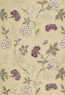 SCHUMACHER SHERIDAN LINEN EMBROIDERY FABRIC MULBERRY