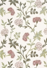 SCHUMACHER SHERIDAN LINEN EMBROIDERY FABRIC QUARTZ