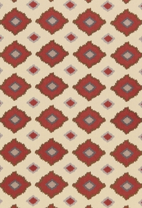 SCHUMACHER SIKAR EMBROIDERY FABRIC POMEGRANATE