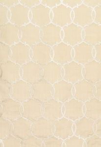 SCHUMACHER SILK TRACERY FABRIC ALABASTER