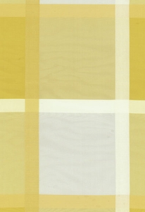 SCHUMACHER SURAT SILK PLAID FABRIC JONQUIL