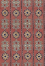 SCHUMACHER TEMERA EMBROIDERED PRINT FABRIC POMEGRANATE