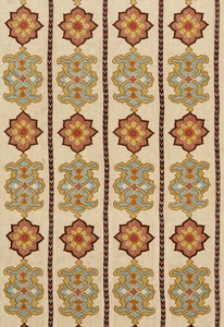 SCHUMACHER TEMERA EMBROIDERED PRINT FABRIC SPICE