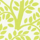 SCHUMACHER TEMPLE GARDEN LINEN FABRIC APPLETINI