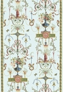 SCHUMACHER TERRACINA ARABESQUE WITH BORDERS FABRIC CELESTIAL