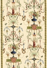 SCHUMACHER TERRACINA ARABESQUE WITH BORDERS FABRIC CHAMPAGNE