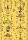 SCHUMACHER TERRACINA ARABESQUE WITH BORDERS FABRIC JONQUIL