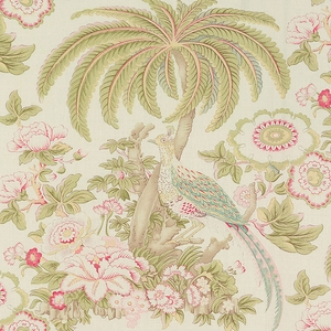 SCHUMACHER THICKET LINEN FABRIC BRIGHT BLOOM