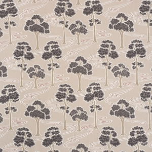 SCHUMACHER TREE RIVER LINEN FABRIC BLUSH