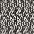 SCHUMACHER TUMBLING BLOCKS GEOMETRIC FABRIC BLACK