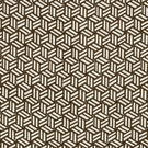 SCHUMACHER TUMBLING BLOCKS GEOMETRIC FABRIC CHOCOLATE