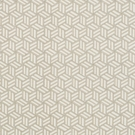 SCHUMACHER TUMBLING BLOCKS GEOMETRIC FABRIC GREIGE