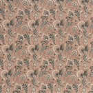 SCHUMACHER URSULA EMBROIDERED LINEN FABRIC BLUSH