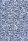 SCHUMACHER VERONA MARBELIZED COTTON FABRIC LAPIS