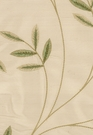 SCHUMACHER VIGNE EMBROIDERY SILK FABRIC WILLOW