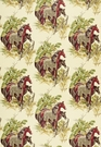 SCHUMACHER WEYBRIDGE HORSES FABRIC PARCHMENT