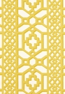 SCHUMACHER ZANZIBAR TRELLIS CHINTZ FABRIC CANARY