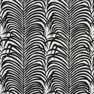 SCHUMACHER ZEBRA PALM INDOOR/OUTDOOR FABRIC BLACK