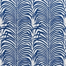 SCHUMACHER ZEBRA PALM INDOOR/OUTDOOR FABRIC NAVY