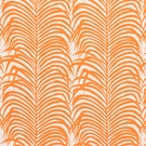 SCHUMACHER ZEBRA PALM INDOOR/OUTDOOR FABRIC ORANGE
