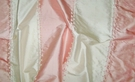 SILK LOOM ADELINA EMBROIDERED SILK STRIPES FABRIC SHABBY PINK CREAM