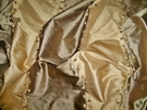 SILK LOOM ADELINA EMBROIDERED SILK STRIPES FABRIC TIGERS EYE BRONZE