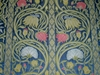SILK LOOM ART NOUVEAU LIBERTY SILK DAMASK FABRIC BLUE ROSE CREAM