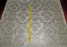 SILK LOOM FORTUNY STYLE VENETIAN PRINTED SILK FABRIC 30 YARD BOLT CREAM BEIGE