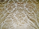 SILK LOOM FORTUNY STYLE VENETIAN PRINTED SILK FABRIC 30 YARD BOLT CREAM GOLD