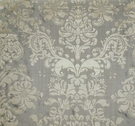 SILK LOOM FORTUNY STYLE VENETIAN PRINTED SILK FABRIC SILVER TAUPE CREAM