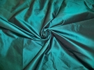 SILK LOOM IMPERIAL SILK TAFFETA FABRIC RICH DEEP DARK TEAL 30 YARD BOLT