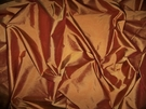 SILK LOOM IMPERIAL SILK TAFFETA FABRIC TERRA COTTA CLAY 30 YARD BOLT