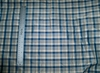 SILK LOOM INC BONNEVILLE CHECK PLAID SILK TAFFETA FABRIC BLUE WHITE 30 YARD BOLT