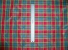 SILK LOOM INC. CHRISTI SILK TAFFETA CHECK PLAID FABRIC 30 YARD BOLT BLUE MINT RED