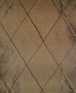 SILK LOOM INC EDINA EMBROIDERED DIAMONDS HARLEQUIN SILK FABRIC BROWN CHOCOLATE