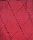SILK LOOM INC EDINA EMBROIDERED DIAMONDS HARLEQUIN SILK FABRIC LACQUER RED 30 YARD BOLT