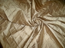 SILK LOOM INC EDINA EMBROIDERED DIAMONDS HARLEQUIN SILK FABRIC OLD GOLD