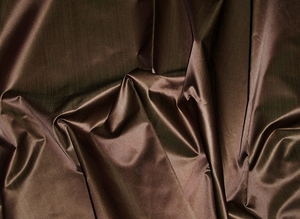 SILK LOOM INC SHANTELLE SILK SATIN FABRIC GODIVA BROWN