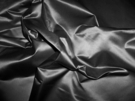SILK LOOM INC SHANTELLE SILK SATIN FABRIC MIDNIGHT BLACK