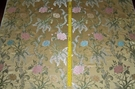 SILK LOOM MIRABELLA SHABBY FRENCH LACE FLORAL SILK DAMASK BROCADE FABRIC 9 YARDS MAIZE