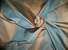 SILK LOOM ONIEDA STRIPE IRIDESCENT SILK TAFFETA FABRIC FRENCH BLUE TAN 30 YARD BOLT