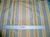 SILK LOOM PARISIAN STRIPE SILK TAFFETA FABRIC PARISIAN BLUE TAUPE  NAVY GOLDENROD