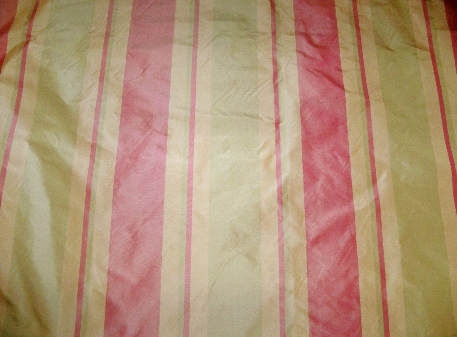 Silk Loom Primavera Stripes Silk Taffeta Fabric Rose Pink
