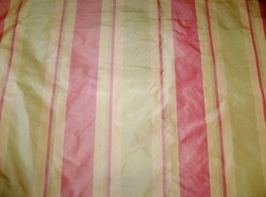 SILK LOOM PRIMAVERA STRIPES SILK TAFFETA FABRIC ROSE PINK PEACH CELADON 45 YARD BOLT