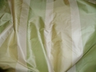 SILK LOOM VERDE STRIPES SILK TAFFETA FABRIC MINT CELADON CREAM 30 YARD BOLT