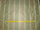 SILK LOOM VERDE STRIPES SILK TAFFETA FABRIC MINT CELADON CREAM