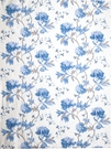 STROHEIM ANTHEA PRINTED SILK FABRIC MEADOW BLUE WHITE
