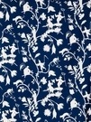 STROHEIM CATHAY PASTORA COTTON FABRIC BLUE & WHITE